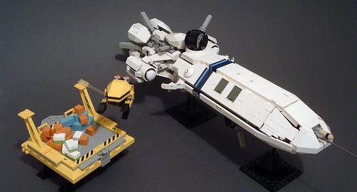 LEGO microscale cargo ship