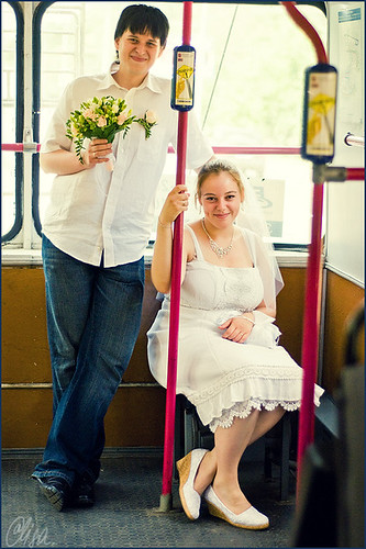 In the trolleybus