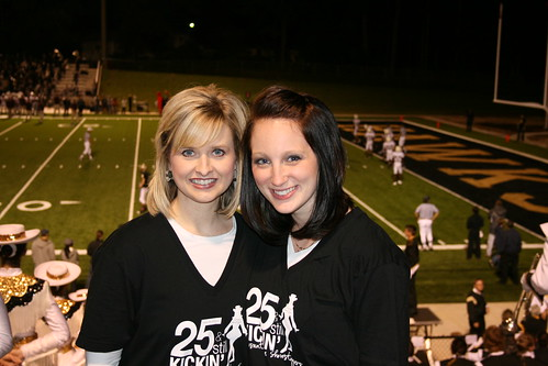 Former Captain, Director, Neighbor, Mentor, and Friend--Jenny Bearden and I at the new Hawk Stadium