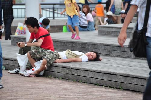Japanese public sleeping