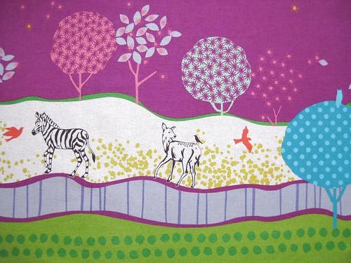 Zebra, Reh und Baum