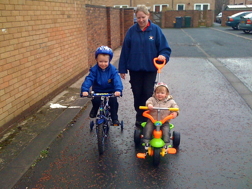 Biking to school and nursery