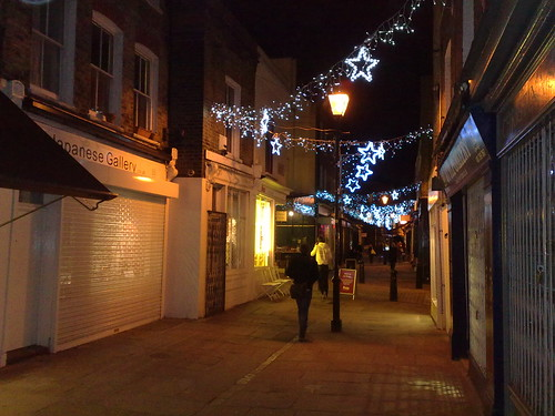 Christmas lights in Islington
