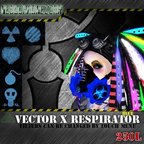 NDN - Vector X Respirator Blue