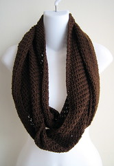 TRUCIOLO- Lightweight Infinity Scarf Coffee Brown