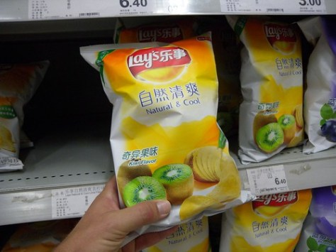 China: Kiwi flavor Lay's potato chips