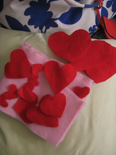 valentines garland - wip1