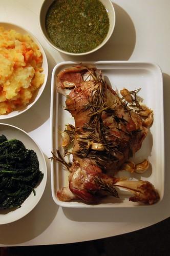Slow Roasted Lamb Shoulder Dinner