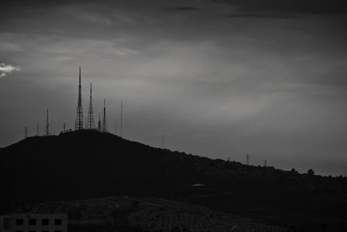 Cerro del Cuatro a contraluz