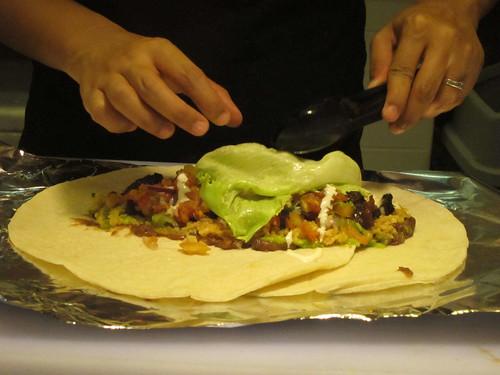 Preparing Burrito