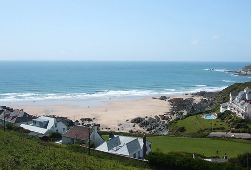 I would so love to live here - view over Barricane beach.