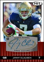 2010 SAGE Hit Autograph Jimmy Clausen