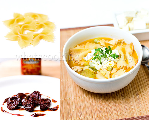 Pasta and butternut squash soup
