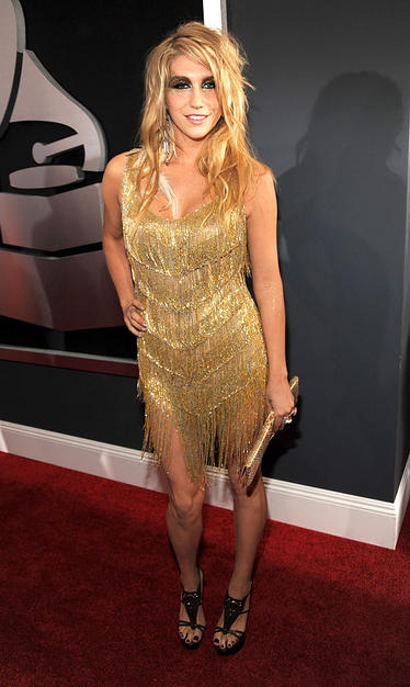 Ke$ha arrives at the 52nd Annual GRAMMY Awards held at Staples C