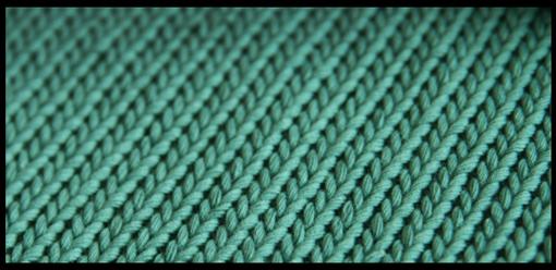 machine knitting sample