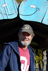 Lee Davis, one of 7 locals who keep up the Blue Whale Route 66 attraction in Catoosa, Oaklahoma