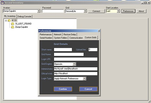 0800 - Second Inventory - Grid Details dialog