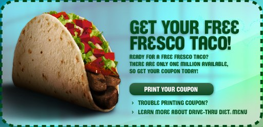 Coupon - Taco Bell Drive-Thru Diet