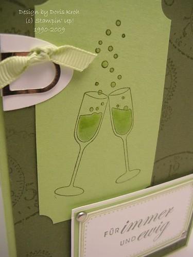Hochzeitskarte Für immer und ewig Detail