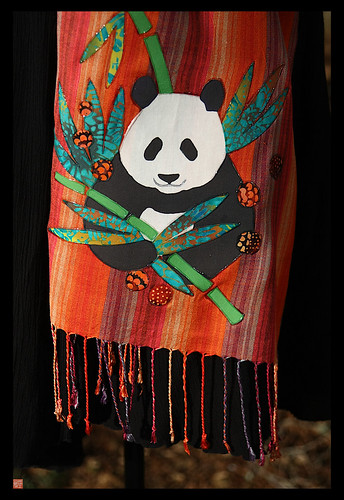 Batik panda scarf5