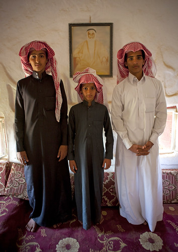 Under the portrait of their beloved grand father - Saudi Arabia