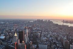 USA 2010 winter trip: sunset NYC