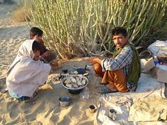 Mr Khan and friends prepairing breakfast
