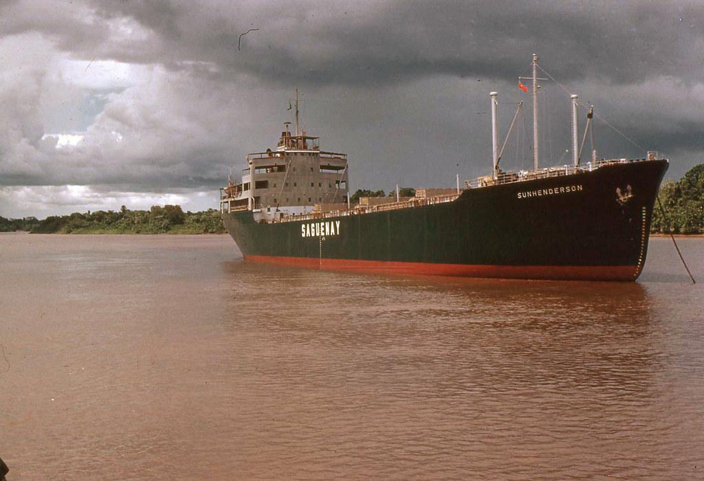 Bauxite Ore Ship in the Demerara River, Guyana