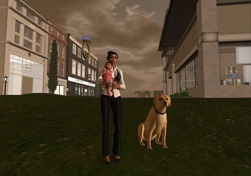 028. baby & dog