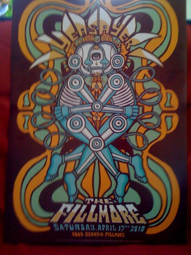 Yeasayer poster @ The Fillmore, SF 4/17/10