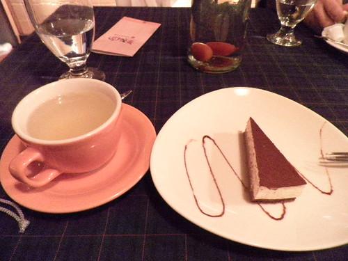 提拉米蘇與香柚茶