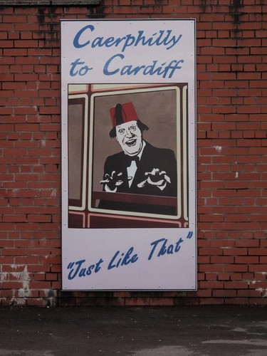 Caerphilly to Cardiff Tommy Cooper style