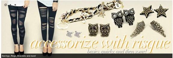 Risque, blog shops, online shopping