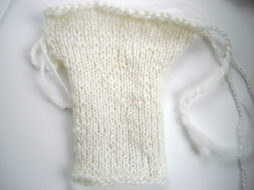 knitted from spun sample