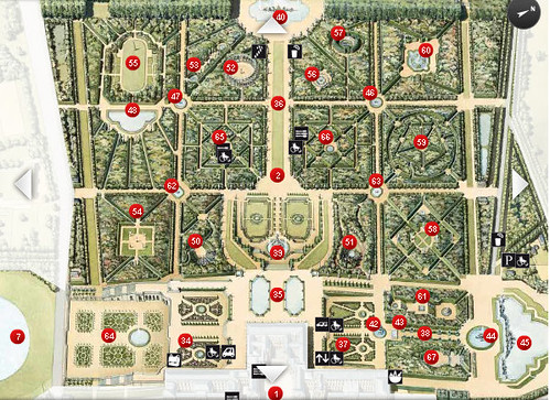 map of versailles gardens
