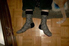 Silver Birch Side-to-Side Socks - complete