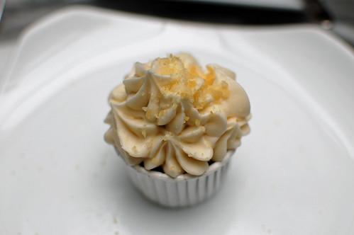 Chocolate and Raspberry Crackle Cupcake