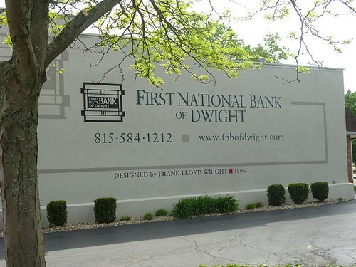 IL, Odell 31 Dwight First National Bank billboard