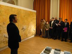 Esteban Ruiz en el Instituto Cervantes de Bruselas