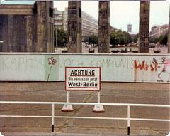 Sie verlassen jetzt West-Berlin