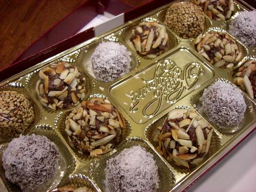 Tahini truffles