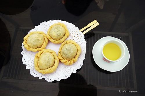 阿妹茶樓的手製美味茶餅。