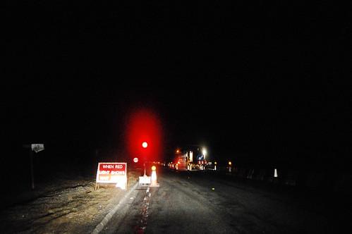 Traveling north on a dark night