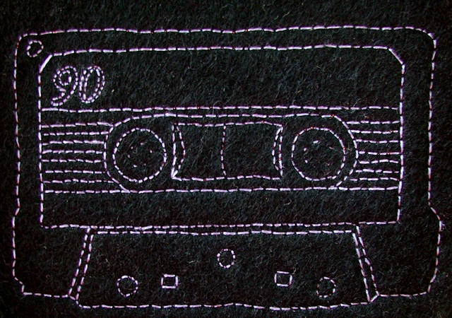 90 minutes, outined in backstitch