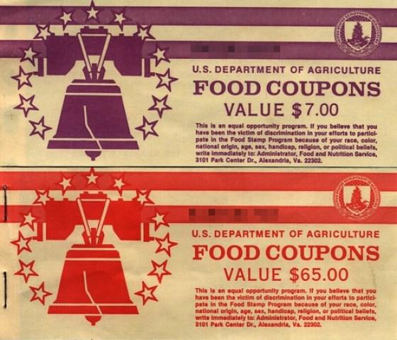 Vintage U.S. Food Stamps