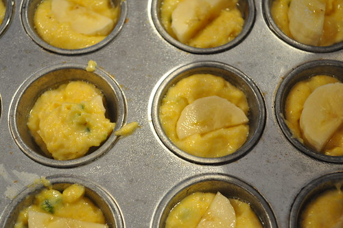 fill muffins halfway