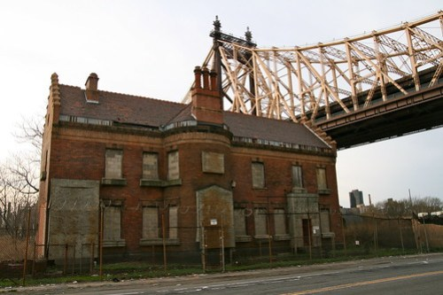 Abandoned Building Under Queensboro Bridge