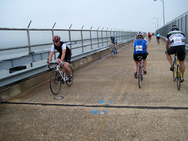 Riding On Lake Lavon Dam