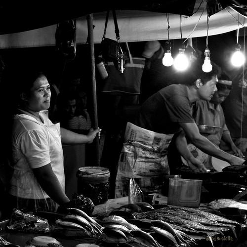 fresh fish = good sales = smile