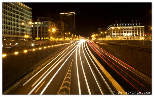 Light Trails in Brussels